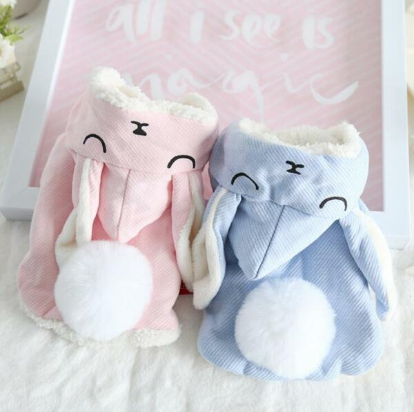 Rabbit Pet Dog Winter Warm Clothes Dog Cat Coats Jackets Clothing For Dog Supply $9.80