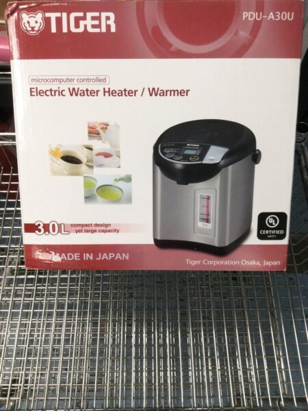 Tiger PDU A30U 3 Liter Electric Hot Water Boiler amp; Warmer Stainless Black $191.99