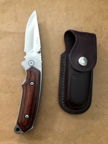 BUCK 277 ALPHA HUNTER FOLDING POCKET KNIFE BOS 12C27M BOS BLADE ROSEWOOD 2011