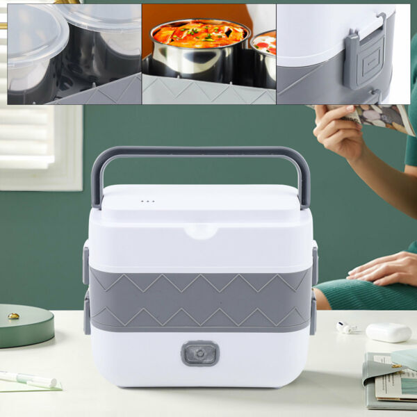 Electric Lunch Bento Box Food Warmer Rice Cooker For School Office Travel 110V $37.20