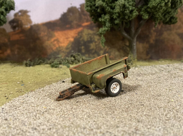 Chevy Truck Bed Trailer 1 64 Diecast Custom Rusty Weathered Barn Find Style $18.95