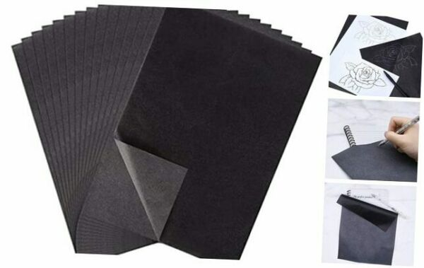 100 Sheets Senior Carbon Paper Black Graphite Transfer Tracing Paper for $7.41