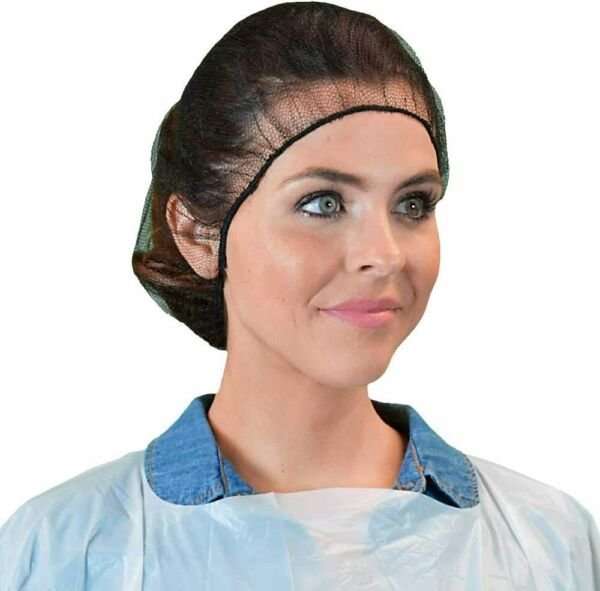 Juenya Disposable Durable Nylon Head Cover Honeycomb Hair Net 21quot; Pack of 100 $11.42