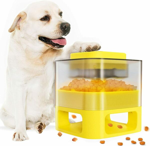 Automatic Dog Feeder Dog Food Dispenser Interactive Button Trigger Dog Puzzle T $24.90