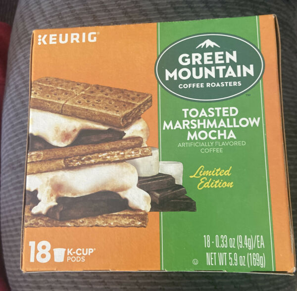 KEURIG GREEN MOUNTAIN COFFEE 18ct TOASTED MARSHMALLOW MOCHA K CUP Pods