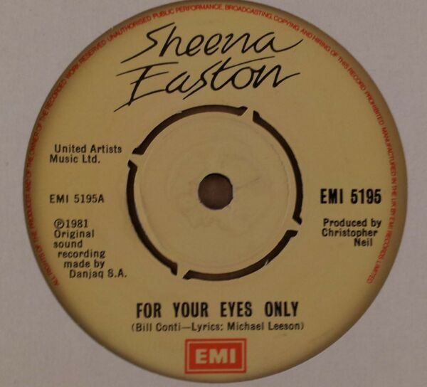 Sheena Easton : For Your Eyes Only : Vintage 7quot; Single from 1981 GBP 6.95
