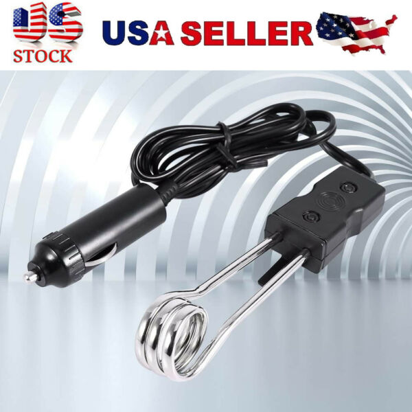 12V Portable Immersion Heater Car New For coffee tea traveling camping picnic $8.73