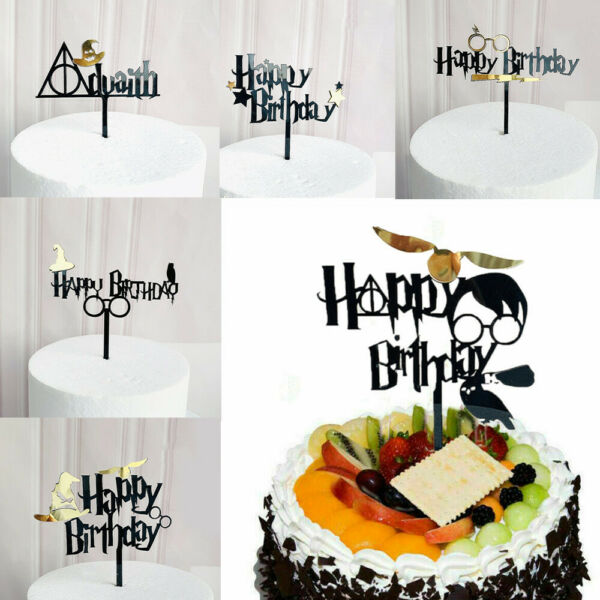 Glitter Personalised Bunting Cake Topper Party Decoration Happy Birthday