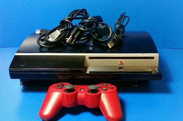 Sony Playstation 3 Fat PS3 System Console Bundle w Controller CECHL01 $87.99