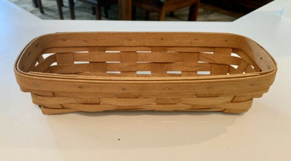 Longaberger Small Cracker Basket Classic Stain made in 1995 $17.00