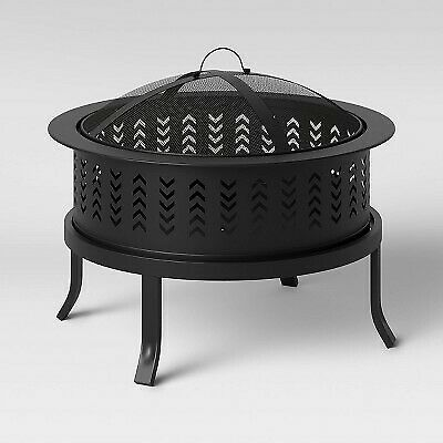 26quot; Chevron Outdoor Wood Burning Fire Pit Threshold $63.99