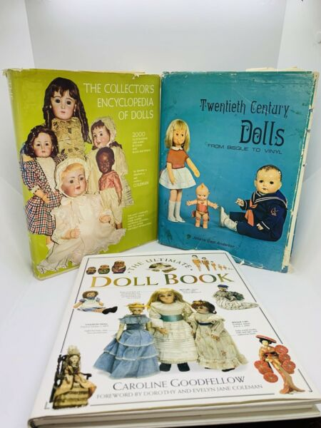 Three Hard Cover Doll Reference Books ; Coffee Table Books Lot