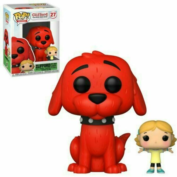 FUNKO POP CLIFFORD THE BIG RED DOG WITH EMILY ELIZABETH #27 FREE PROTECTOR $12.50