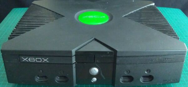 MICROSOFT ORIGINAL XBOX VIDEO GAME HOME CONSOLE SYSTEM BLACK PARTS ONLY ERROR 06