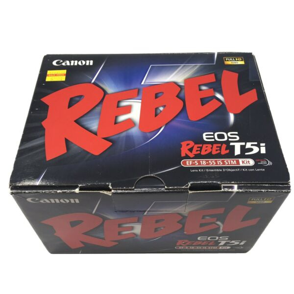 CANON EOS REBEL T5i 18 55 KIT *EMPTY BOX ONLY* GOOD CONDITION FREE SHIPPING $29.95