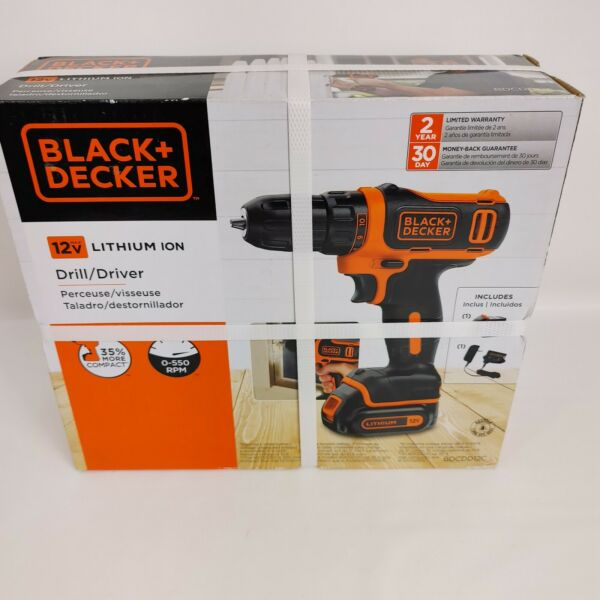 BLACKDECKER 12 Volt Max 3 8 in Cordless Drill 1 Battery and charger Included