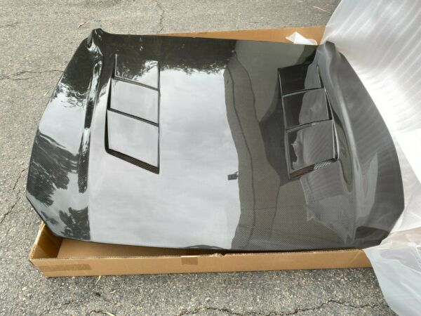 2018 2020 Ford Mustang Double Sided Carbon Fiber Hood E751 $850.00
