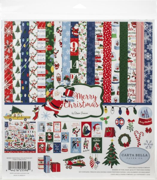 Carta Bella Collection Kit 12quot;X12quot; Merry Christmas