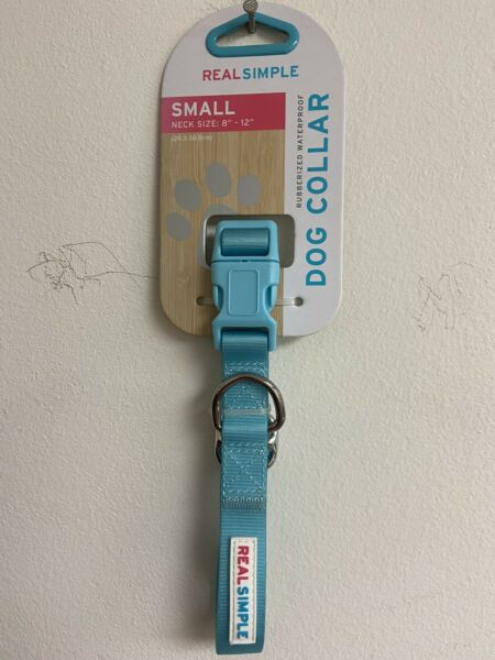 Real Simple Rubberized waterproof dog collar small size $9.70