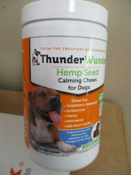 ThunderWunders Hemp Dog Calming Chews Vet Recommended for Situational EXP.9 23 $13.95