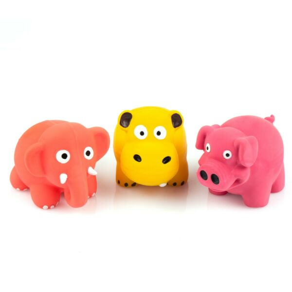 3 Pack 3.3quot; Squeaky Latex Dog Toys Lovely Elephant Cow Play for Small Puppy Dog $9.48