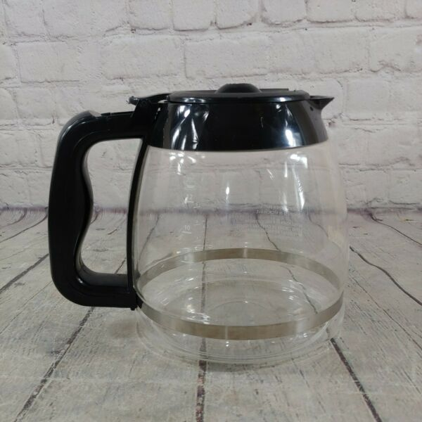 Kenmore 12 Cup Coffee Pot Replacement Part Glass Carafe Black Lid amp; Handle