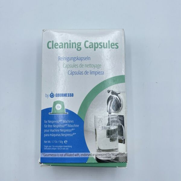 Gourmesso Biodegradable Cleaning Capsules for Nespresso Machines Kit