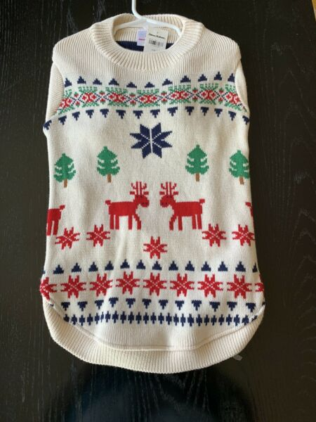hanna andersson L dog christmas sweater $16.00