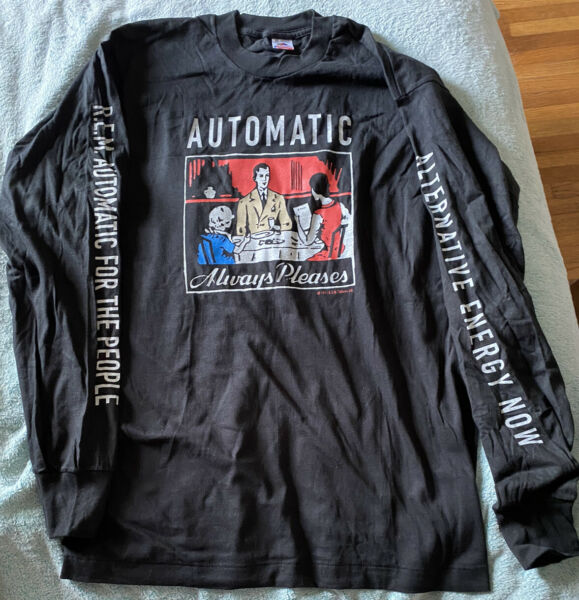 ***R.E.M. AUTOMATIC FOR THE PEOPLE LONG SLEEVE SHIRT XL 1993 NOS*** $150.00