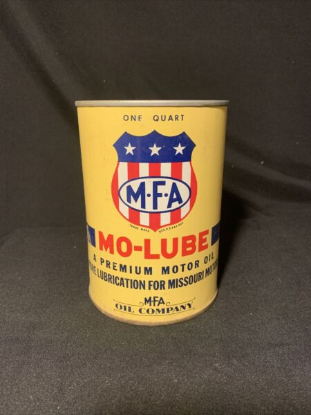 VINTAGE M F A MO LUBE MOTOR OIL QUART CAN EMPTY $149.99