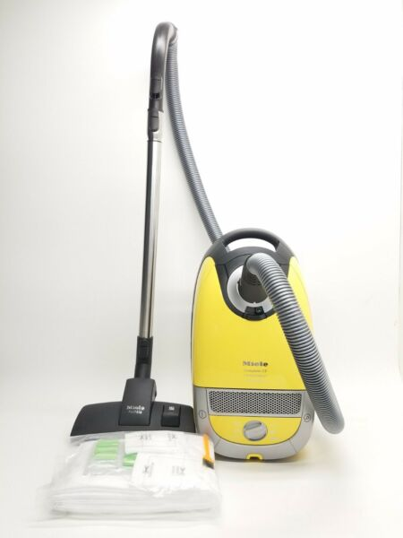 Miele Compact C2 Quartz Limited Powerline Yellow Canister Vacuum w Allteq head