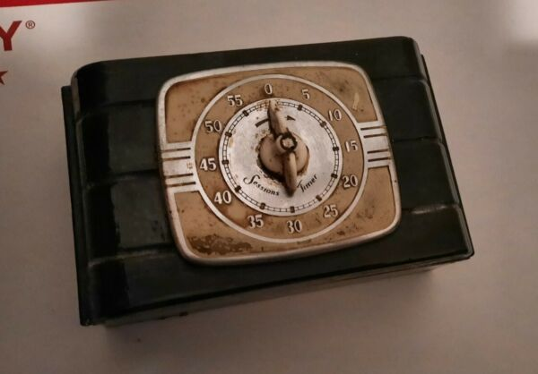 Rare 1940S 1950S SESSIONS KITCHEN OVEN MANTLE TIMER BELL
