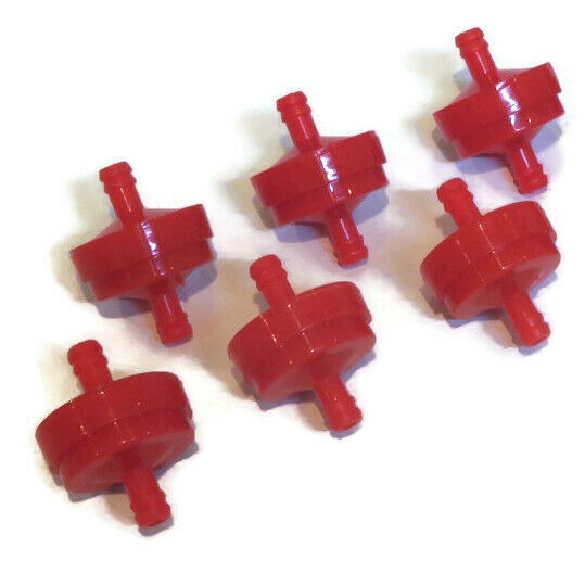 Pack of 6 Fuel Filters for Craftsman SPA8S1065056801 fits 1 4quot; Gas Line Engine