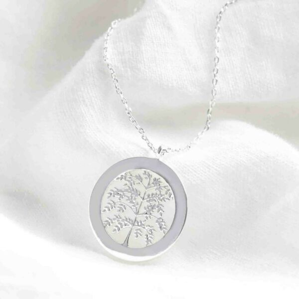 Family Tree Necklace Pendant Womens Silver Fashion Jewellery 18quot; Gift Boxed