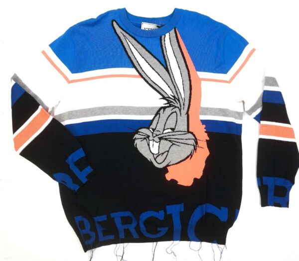NEW $685 ICEBERG BLUE BUGS BUNNY MADE IN ITALY KNIT CREWNECK SWEATER SIZE XL $349.99