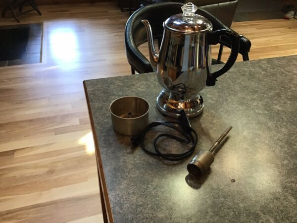 Manning Bowman Vintage Percolator Coffee Pot Complete