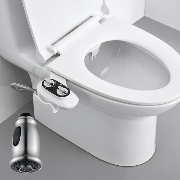 Bidet Fresh Water Kit Non Electric Toilet Seat Attachment or Pull Out Faucet $8.99