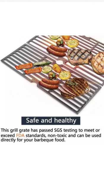 Hongso 18 3 16quot; Cast Iron Grill Grates for Charbroil Signature 3 Burners 4633480