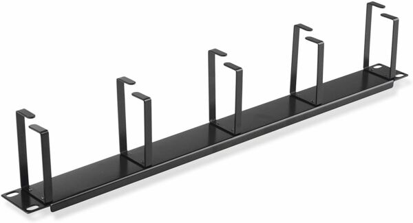 1U Horizontal Rack Mount Metal Cable Management With 5 D Rings $14.50