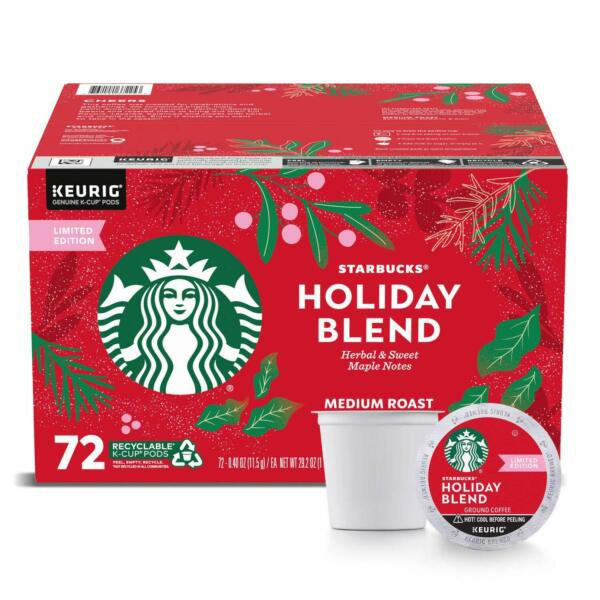 🔥 Starbucks Limited Edition Christmas Holiday Blend Coffee 72 K CUP 🔥4 2022