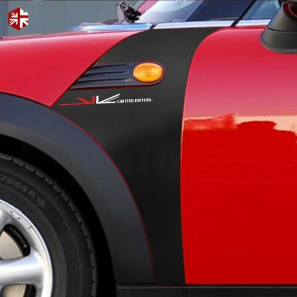 Car Side Fender Sticker Scuttles Union Jack Style Decal for MINI Cooper R55 R56 $32.99