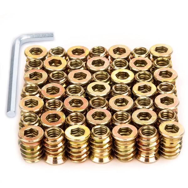 1 4quot; 20 Threaded Insert Furniture Screw in Nut Threaded Wood Inserts Bolt NEW $9.70