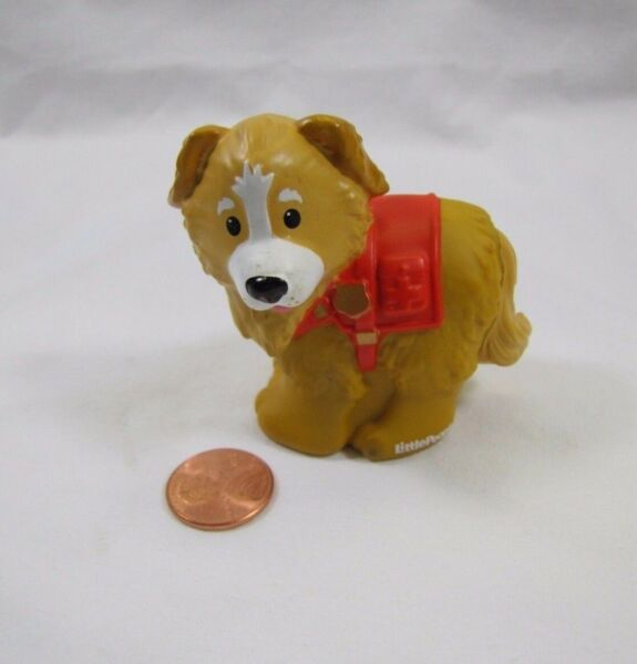 Fisher Price Little People POLICE RESCUE K9 PUPPY DOG for Policeman Cop Rare $8.32
