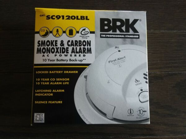 BRK First Alert Hardwired Smoke Carbon Detector 10 Year Battery SC9120LBL $23.00