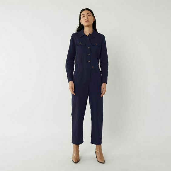 New Ladies Warehouse Casual Utility Boiler Suit Navy Sizes: 12 amp; 14 R.R.P £55.00 GBP 7.99