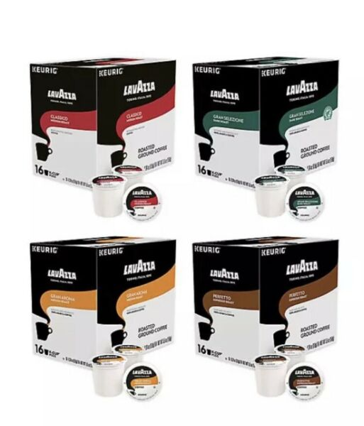 LAVAZZA COFFEE 64 Count K CUPS VARIETY PACK FOR KEURIG Classico Gran Aroma