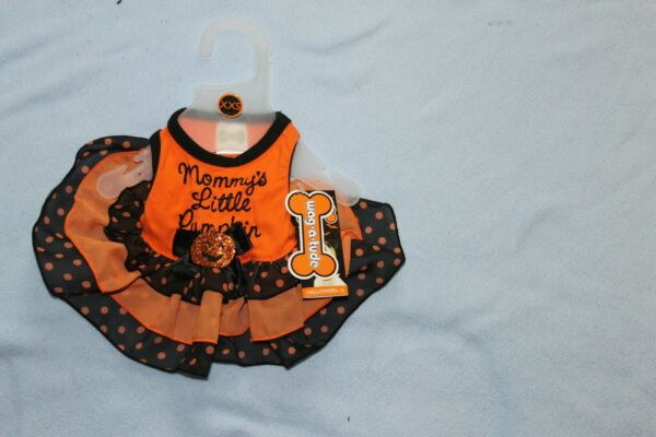 HALLOWEEN DOG XS XSMALL HALLOWEEN DRESS COSTUME NEW WITH TAGS $8.99