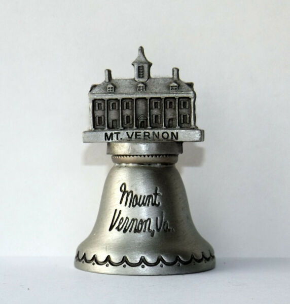 Pewter Bell Mount Vernon Virginia Souvenir Fort Company 1 3 4quot; Tall 1quot; x 1quot; $10.00