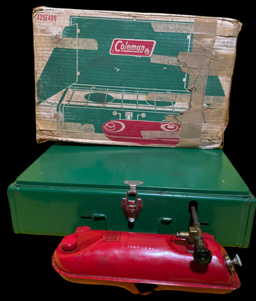 Vintage Coleman Stove With Box 425E499 UNTESTED Lot 21 47 5
