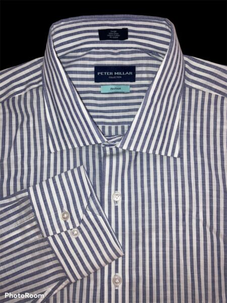 Peter Millar Collection Size Large Flex Finish Oxford Golf Shirt $248 NWT $104.97
